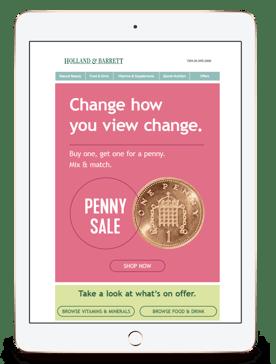 H&B penny sale iPad