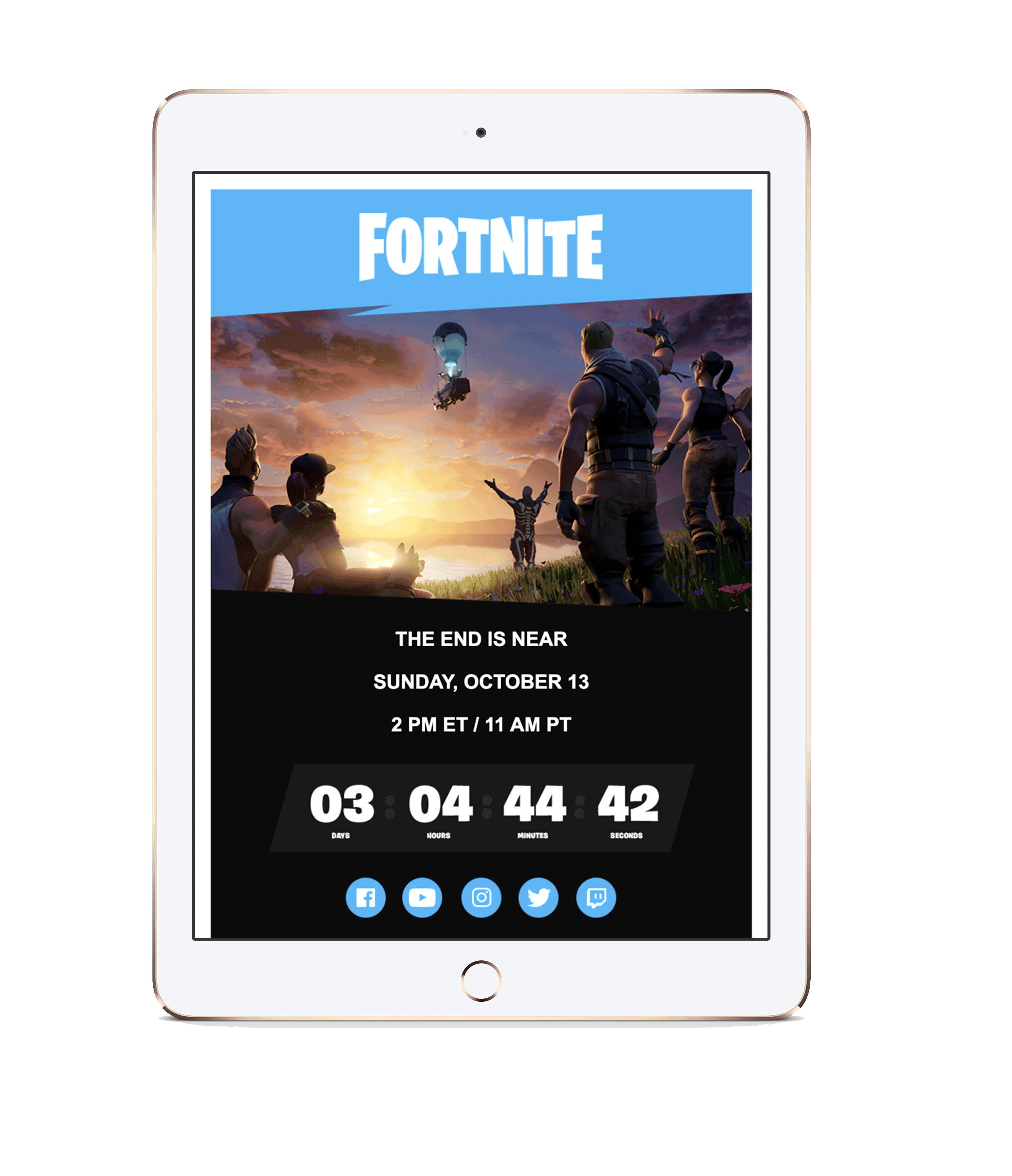 Epic Games countdown timer